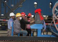 Nautilus board visits shipyard
