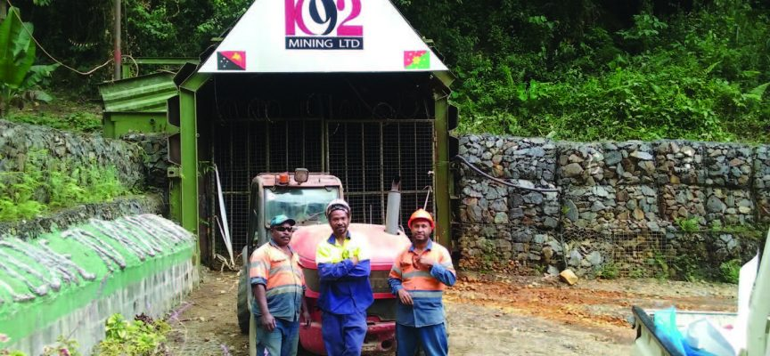 K92 excited by high grade hits in Kainantu