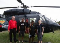 Volunteers fly in to open up the eyes of Bamio villagers