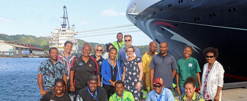 Rabaul tour operators pitch ideas to cruise passengers