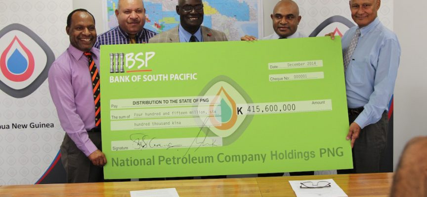 PNG LNG dividend paid to government