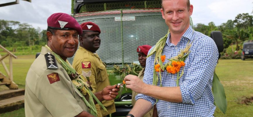 Vehicle presented to Bougainville prison
