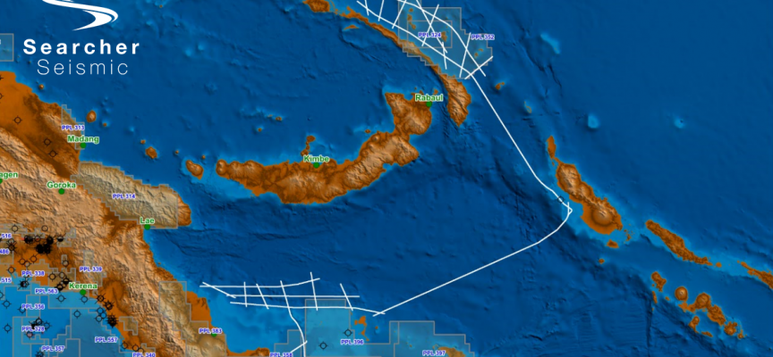 Searcher expands 2D seismic coverage in Papua New Guinea