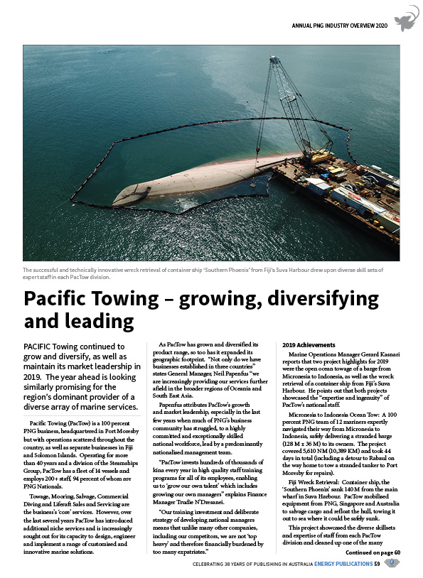 PNG Annual Industry Overview 2020 – 61