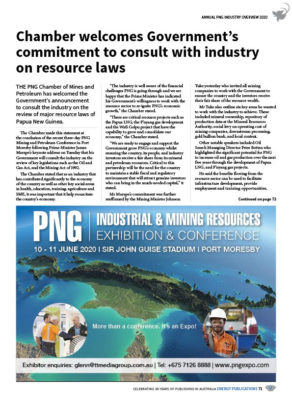 PNG Annual Industry Overview 2020 – 73