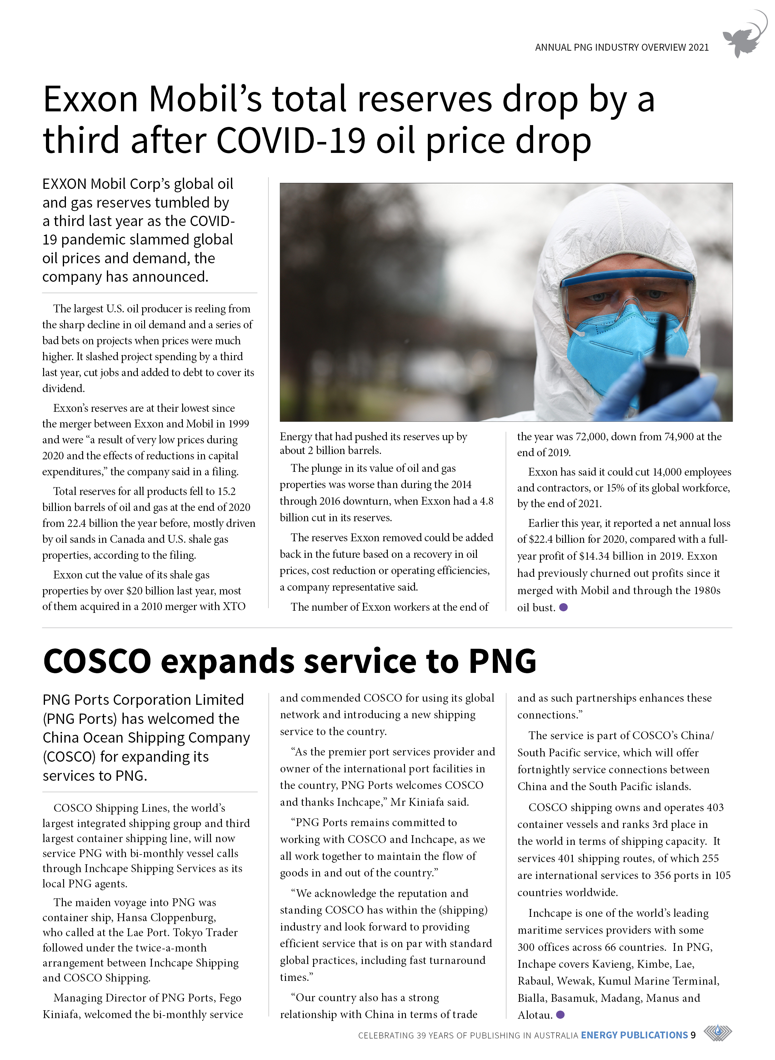 PNG Annual Industry Overview 2021 – Page 11