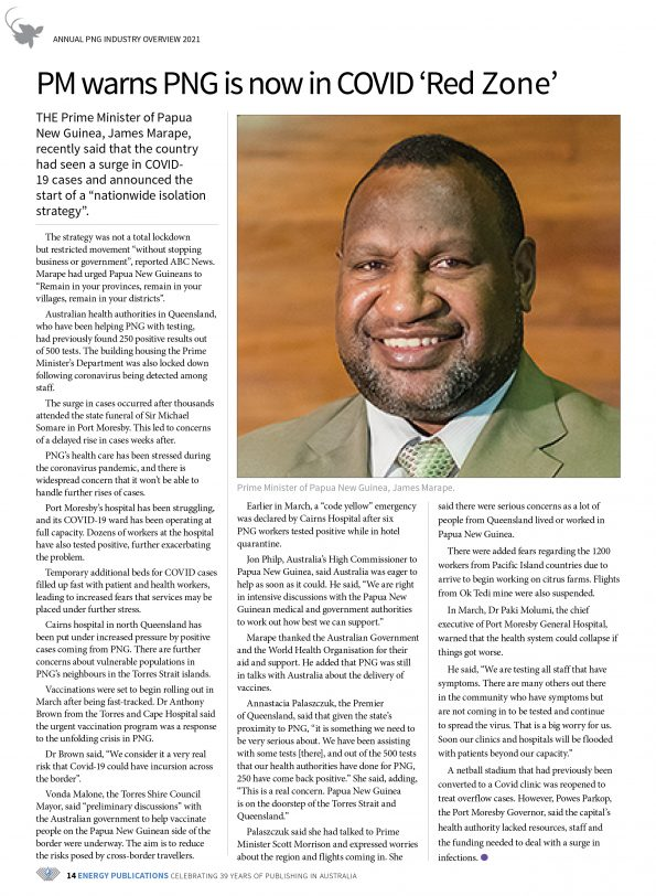 PNG Annual Industry Overview 2021 – Page 16