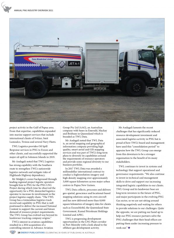 PNG Annual Industry Overview 2021 – Page 20