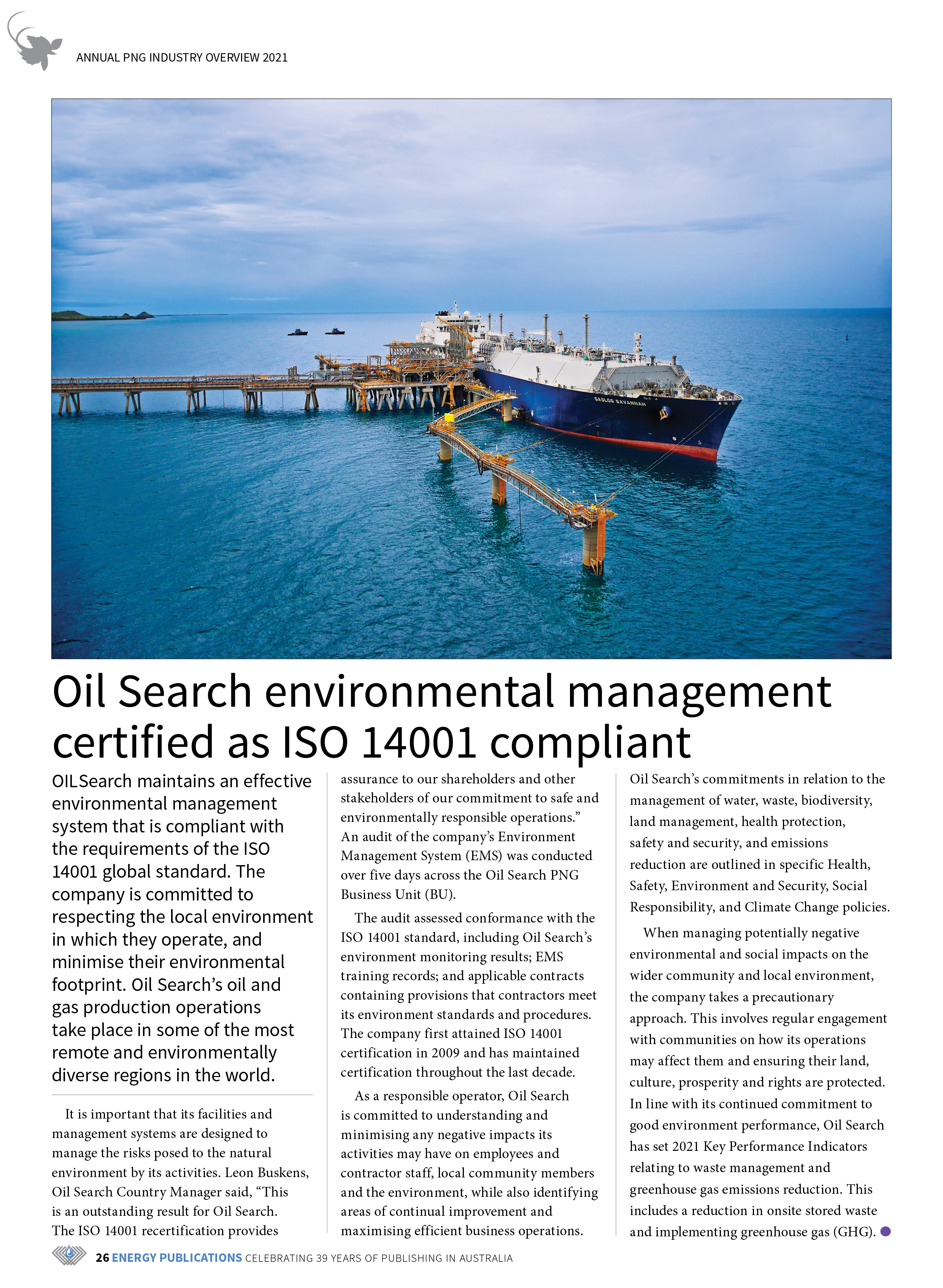 PNG Annual Industry Overview 2021 – Page 28