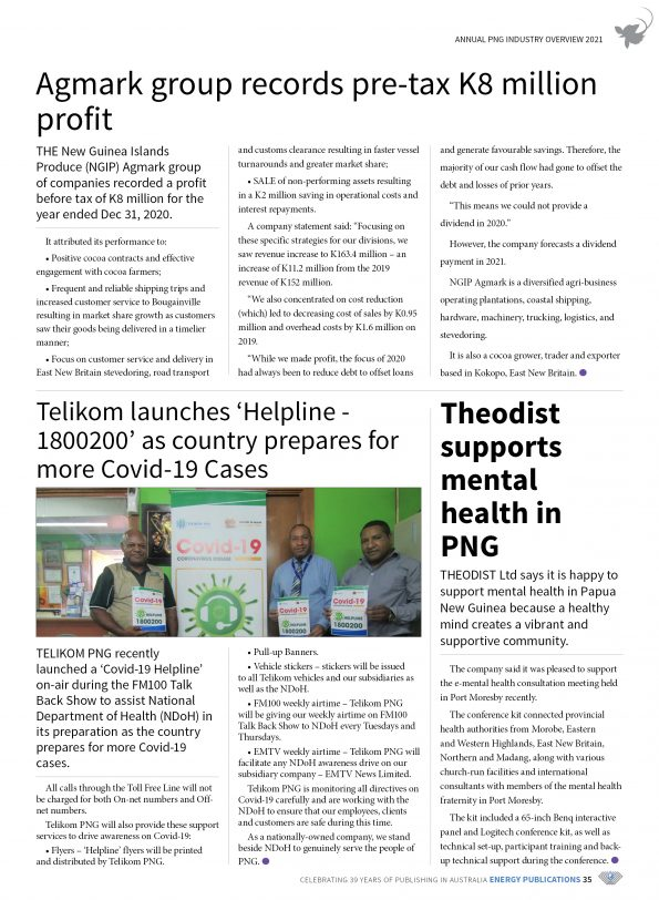 PNG Annual Industry Overview 2021 – Page 37