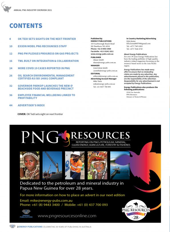 PNG Annual Industry Overview 2021 – Page 4