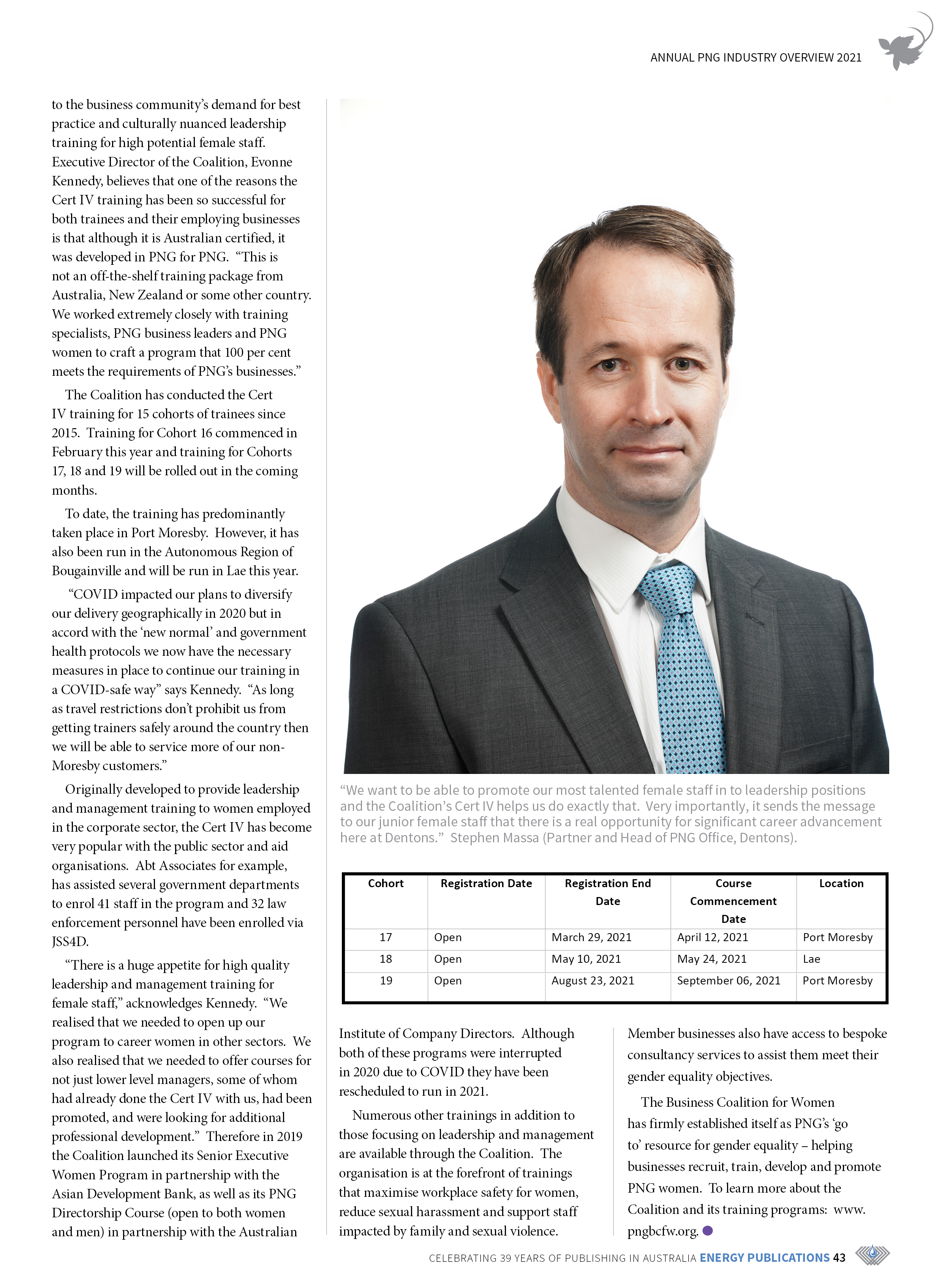 PNG Annual Industry Overview 2021 – Page 45