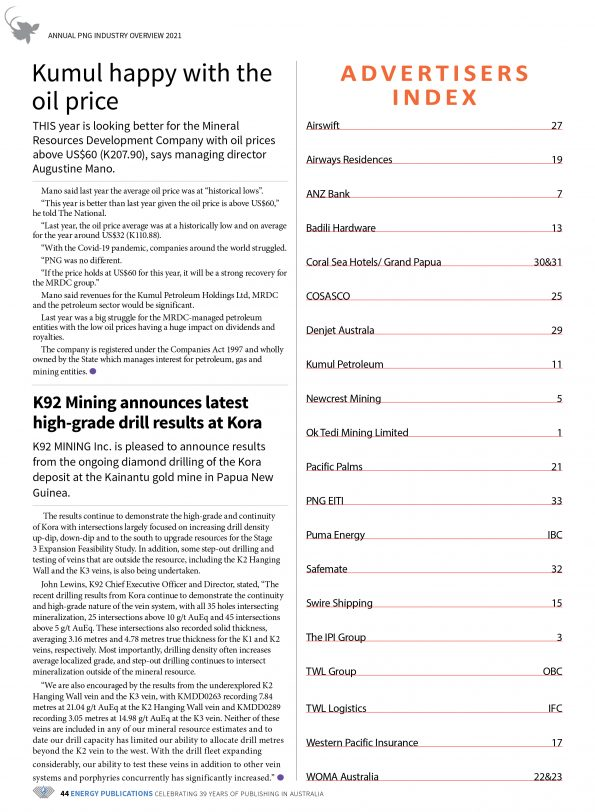 PNG Annual Industry Overview 2021 – Page 46