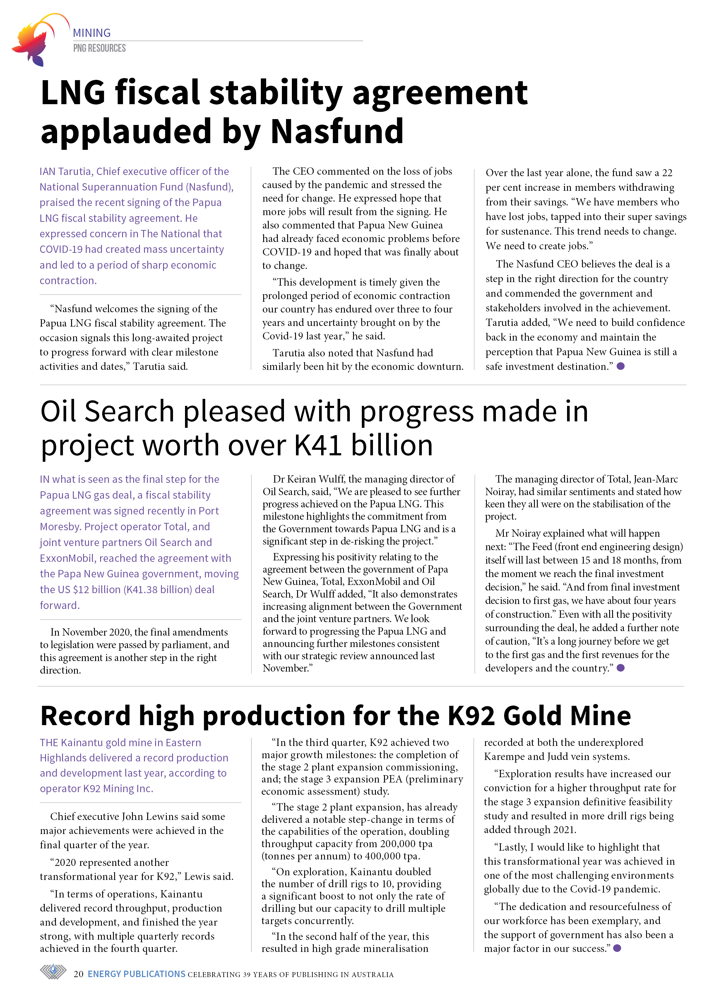 PNG Resources Q1 2021 – Page 22