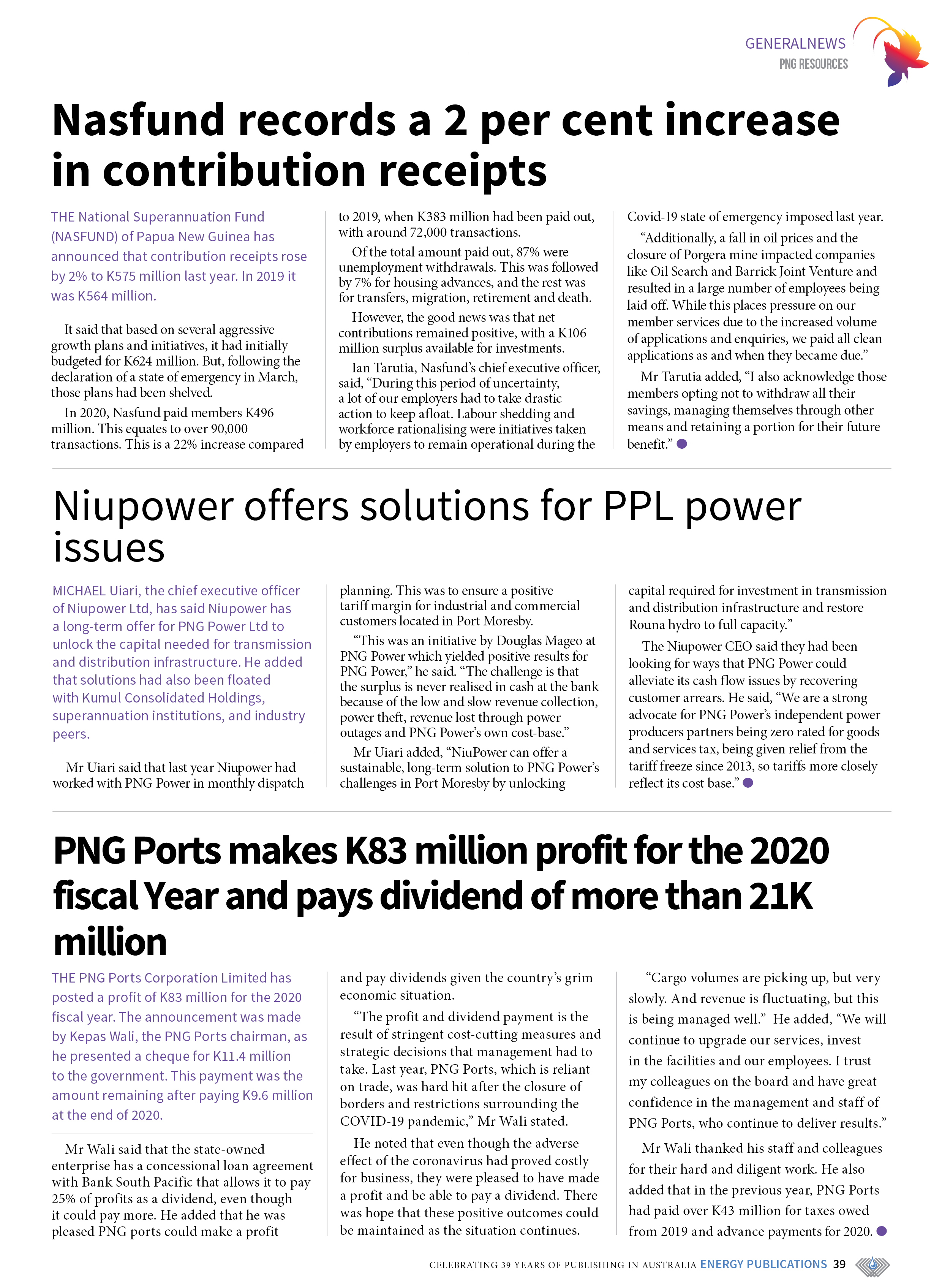 PNG Resources Q1 2021 – Page 41