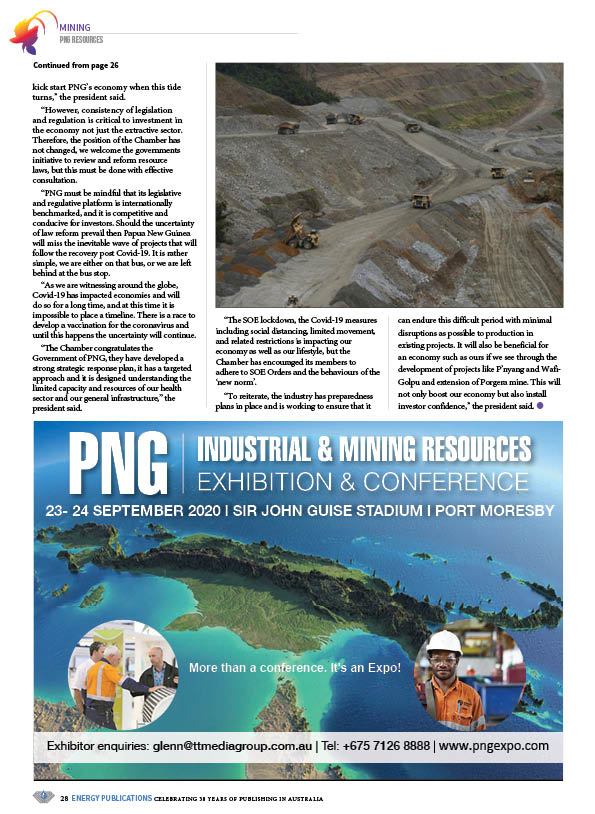 PNG Resources Q2 2020 – Page 30