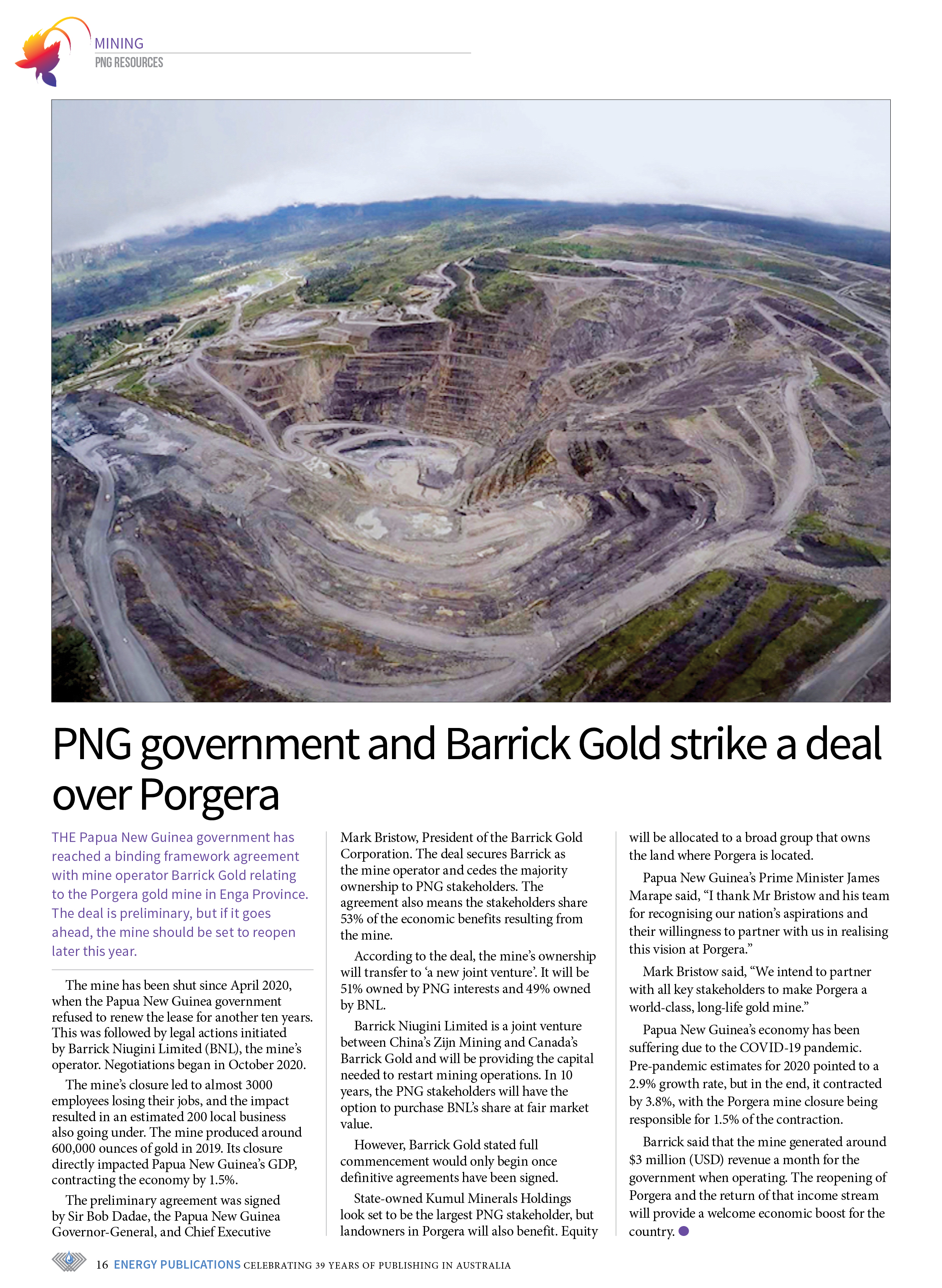 PNG Resources Q2 2021 – Page 18