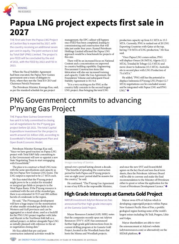 PNG Resources Q2 2021 – Page 20