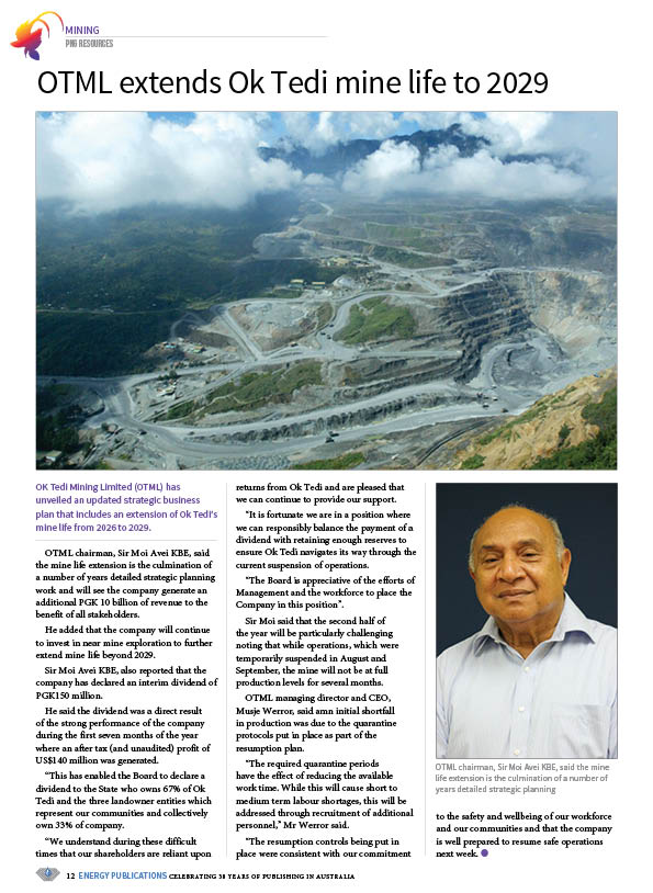 PNG Resources Q3 2020 – Page 14