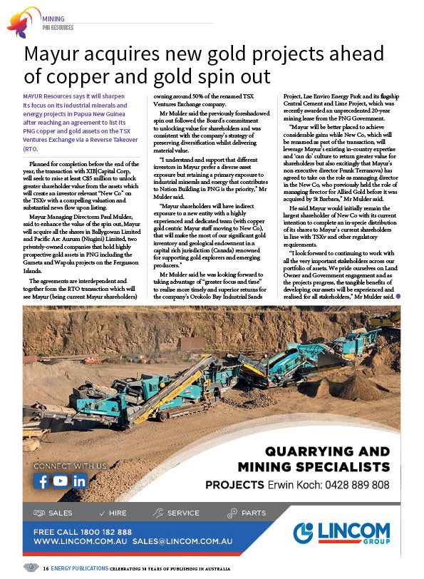 PNG Resources Q3 2020 – Page 18
