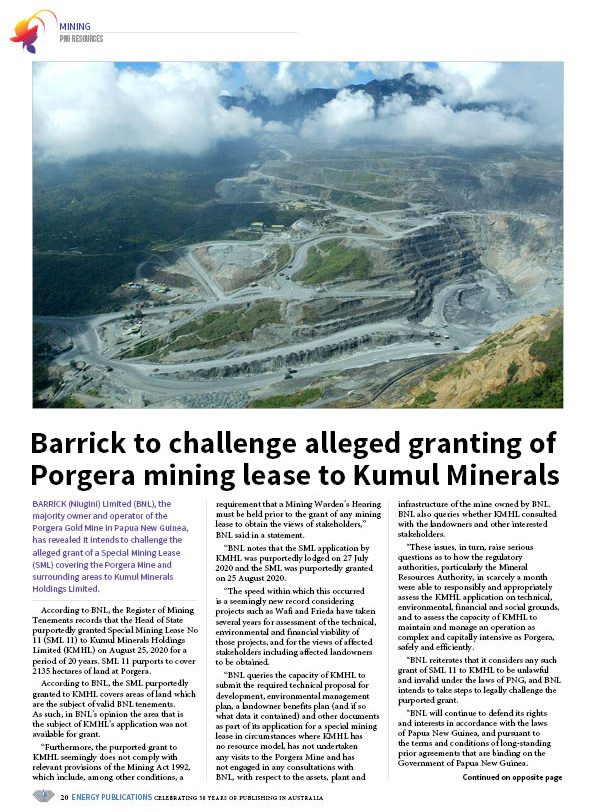 PNG Resources Q3 2020 – Page 22