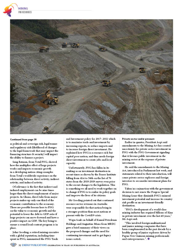 PNG Resources Q3 2020 – Page 34