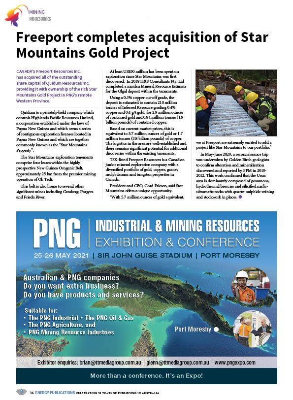 PNG Resources Q4 2020 – Page 38