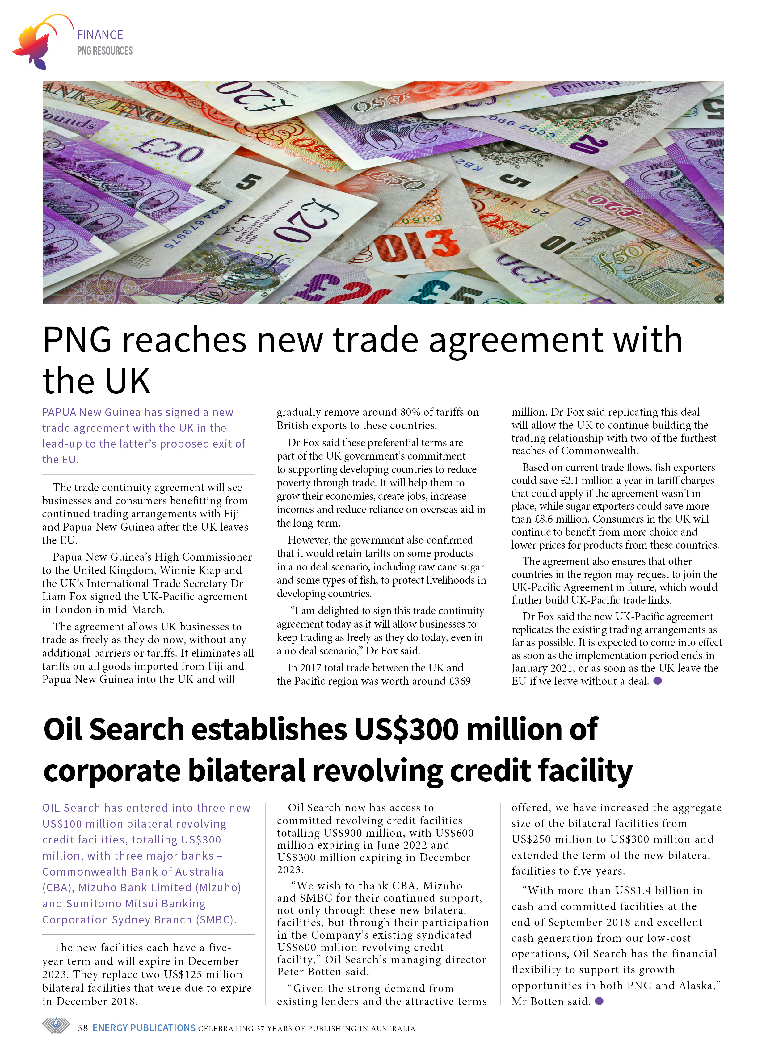 PNG Resources Q1 2019 – Page 60