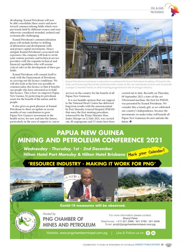 PNG Resources Q3 2021 – Page 35